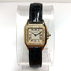 CARTIER PANTHERE 18K Yellow Gold Diamond Bezel Watch