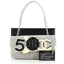 Chanel Camellia No.5 Flap Bag Canvas