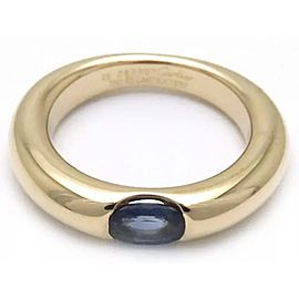 Cartier Ellipse Ring 18K Yellow Gold Sapphire Size 4.75