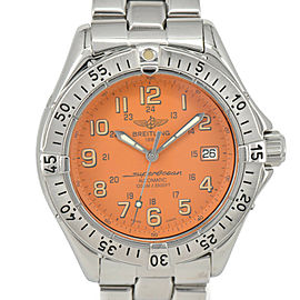 Breitling Super Ocean A17040 Date Orange Dial Automatic Men's Watch