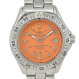 Breitling Super Ocean A17040 Date Orange Dial Automatic Men's Watch
