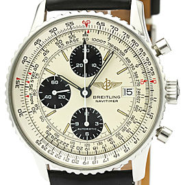Polished BREITLING Old Navitimer Steel Automatic Mens Watch A13019