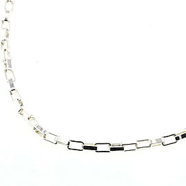 GUCCI Venetian Chain 925 Silver Necklace TBRK-282