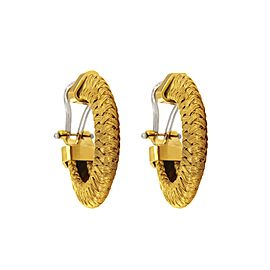Roberto Coin 18k Yellow Gold Woven Hoop Earrings