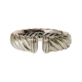 David Yurman 925 Sterling Silver Waverly Cable Cuff Bracelet