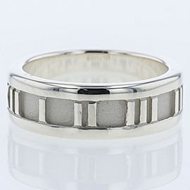 "TIFFANY & Co Silver925 Atlas 0.2 "" Ring TBRK-96"