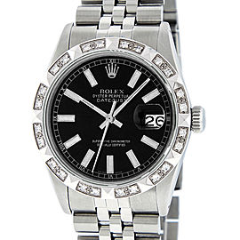 Rolex Datejust 16014 Stainless Steel & 18K White Gold Diamond 36mm Watch