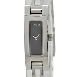 GUCCI 3900L Black Dial SS Quartz Ladies Watch