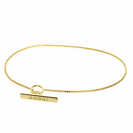 GUCCI 18K Yellow Gold lariat Bracelet