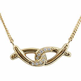 18k yellow Gold Diamond Necklace CHAT-98