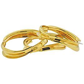 Tiffany & Co. Gehry Fish Gold Bangle Bracelet Set of 3
