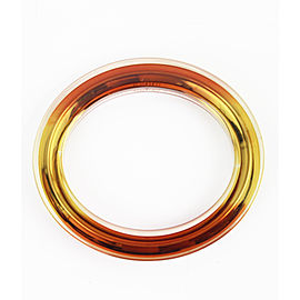 Gucci Yellow Metal and Orange Metal with Clear Plexiglass Overlay Bracelet