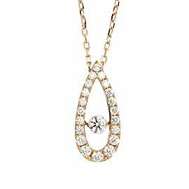 MIKIMOTO 18K pink gold termolo Diamond 0.53ct Necklace