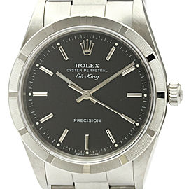 Polished ROLEX Air King A Serial Steel Automatic Mens Watch 14010