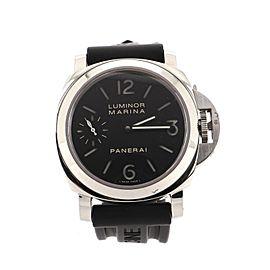 Panerai Luminor Marina Manual Watch Stainless Steel and Rubber 44