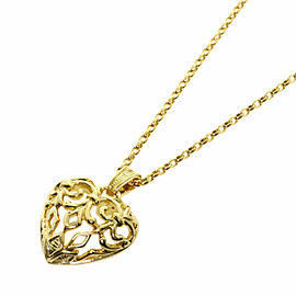 MIKIMOTO 18K Yellow Gold heart Necklace