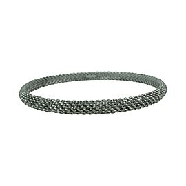 Tiffany & Co. 18k White Gold Mesh Bangle Bracelet 7.75""
