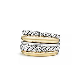 David Yurman Pure Form Wide Ring with 18K Gold