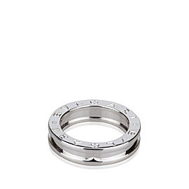 Bulgari 18K White Gold B.Zero1 Single Band Ring