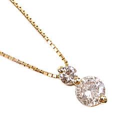 Necklace K18 yellow gold/diamond Women