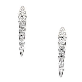 Bulgari Serpenti 18K White Gold with Diamonds Earrings