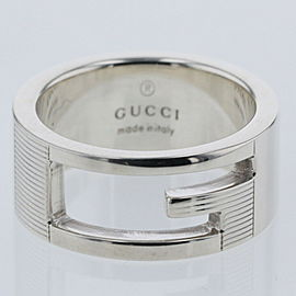 """GUCCI Silver925 Branded G width 0.3 """" Ring TBRK-508"""