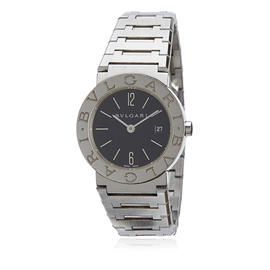 Bulgari Diagono Stainless Steel Black Dial Quartz 26mm Womens Watch