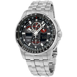 Citizen Skyhawk AT JY805051E Stainless Steel Quartz 47mm Mens Watch