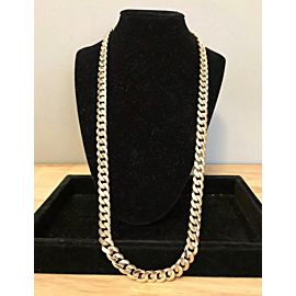 Men's Solid 14k Yellow Gold Cuban Link Chain