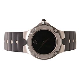 Movado Black Rubber Strap Watch