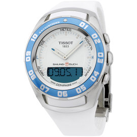 Tissot Sailing Touch T0564201701600 Stainless Steel & Rubber Quartz 45mm Mens