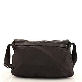 Prada Zip Buckle Messenger Bag Tessuto Large