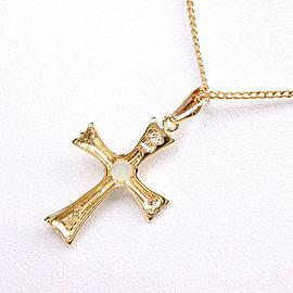 cross Necklace K18 yellow gold/opal unisex