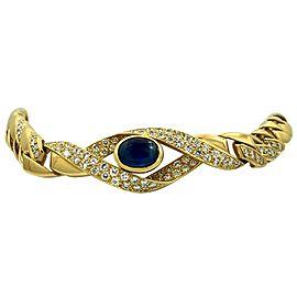 Cartier Paris 18 Karat Yellow Gold Diamond Sapphire Choker Necklace