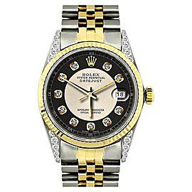 Rolex Datejust 18K Yellow Gold & Stainless Steel Diamond 36mm Watch