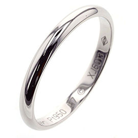 CARTIER 1895 Wedding 950 Platinum Ring TBRK-270