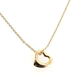 Tiffany & Co. Elsa Peretti Open Heart Pendant Necklace 18K Rose Gold