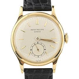 Patek Philippe Calatrava 1491 18K Yellow Gold 30mm Mens Vintage Watch