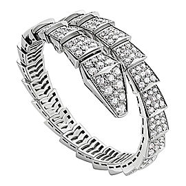 Bvlgari 18K White Gold and Diamond Serpenti Bracelet BR855231
