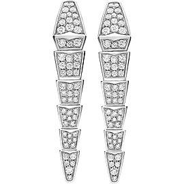 Bvlgari 18K White Gold and Diamond Serpenti Earrings OR856498