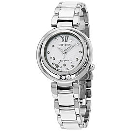 Citizen EM032083A Stainless Steel/Ceramic White Dial Quartz 30mm Womens Watch