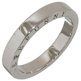 EYEFUNNY Simple Band Mens Ring in 18K White Gold US8.25 w/Box