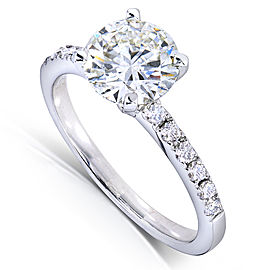 Round Diamond Engagement Ring 1 4/5 Carat (ctw) in 14k White Gold
