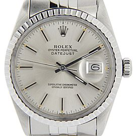 Mens Rolex Stainless Steel Datejust Silver 16030