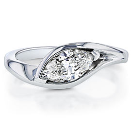 Marquise-cut Diamond Ring 1.02 CTW in 14k White Gold