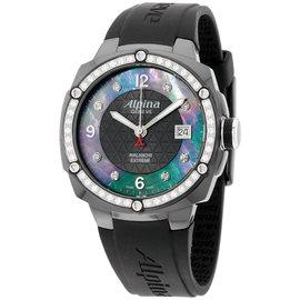 Alpina Avalanche AL240MPBD3FBAEDC6 Black Dial Silicone Strap 45mm Womens Watch