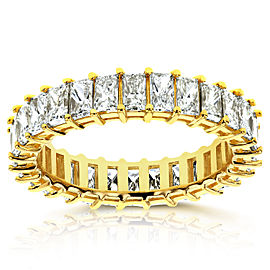 Princess Baguette Diamond Eternity Band 4 7/8 CTW in 14K Yellow Gold