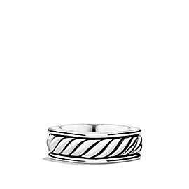 David Yurman Sterling Silver Cable Narrow Square Band Ring Size 12.5