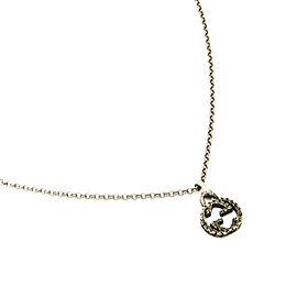 Gucci Silver Arabesque Interlocking G Pendant Necklace