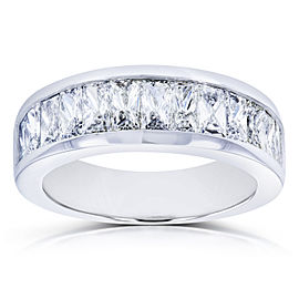Princess Baguette Diamond Wedding Band 2 1/4 CTW 14k White Gold
